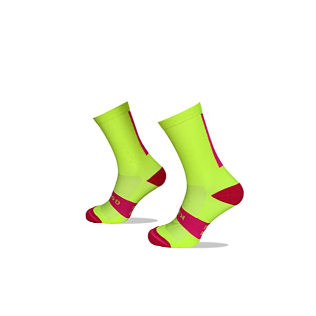 Calcetines para ciclismo rosa fluor