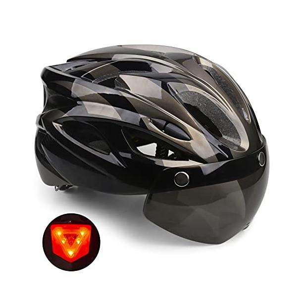 Cascos de ciclismo con gafas incorporadas