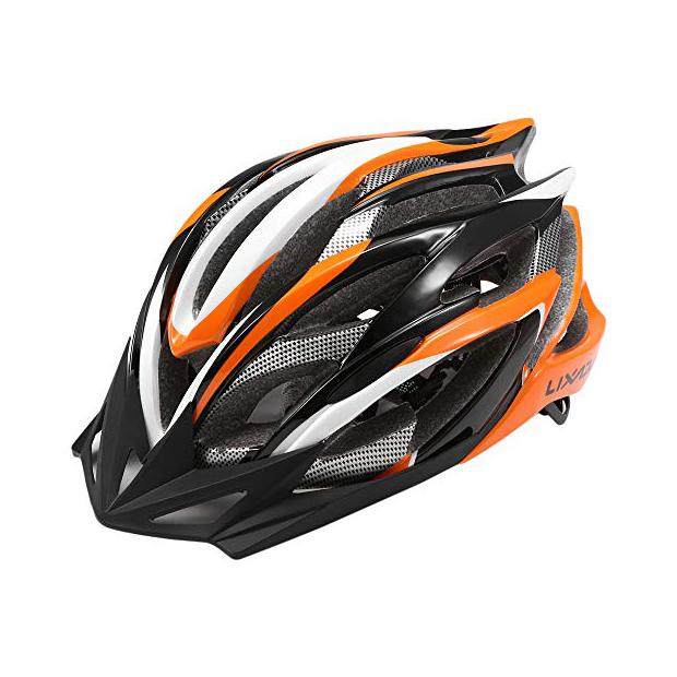 Cascos de ciclismo naranjas