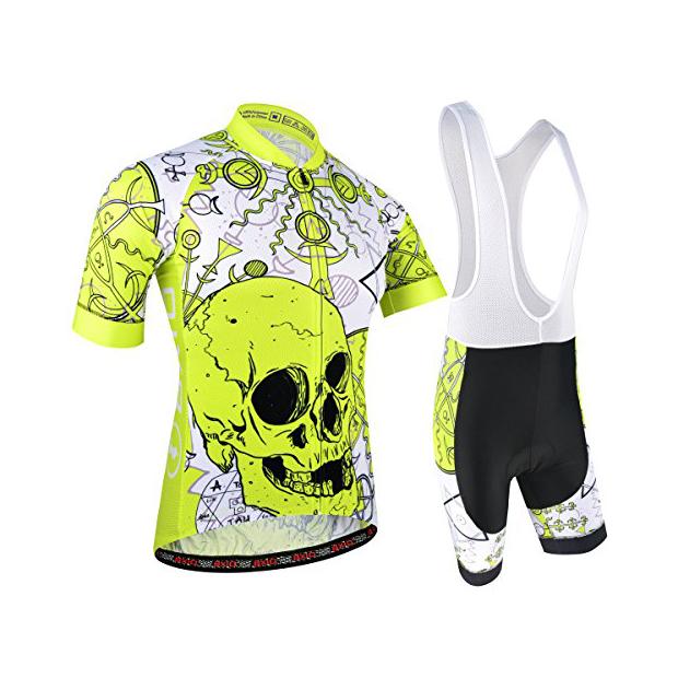 Trajes de ciclismo para hombres en amarillo