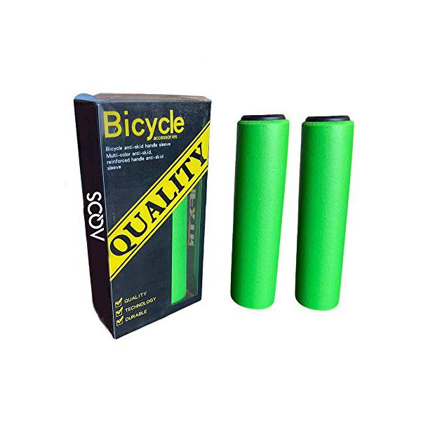 Puños de bicicleta verde